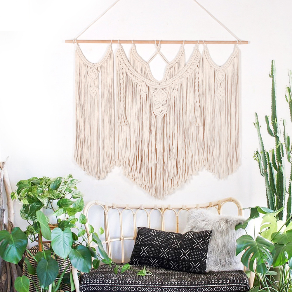 """39/""""x 47/"""" Giant Macrame Wall Hanging Woven Tapestry Wall Home Decor Boho Chic"""